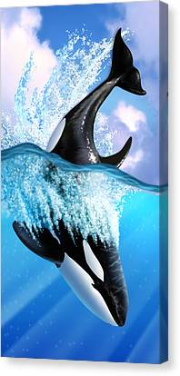 Whale Canvas Print - Orca 2 by Jerry LoFaro