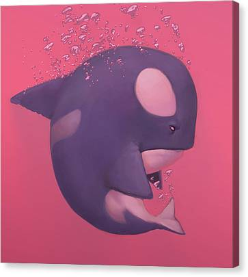 Orca Canvas Print by Adam Ford