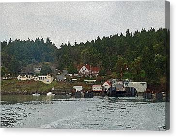 Orcas Island Dock Digital Canvas Print by Carol  Eliassen