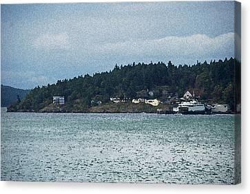 Orcas Island View  Canvas Print by Carol  Eliassen