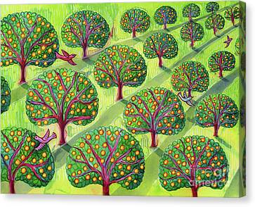 Apple Canvas Print - Orchard by Jane Tattersfield