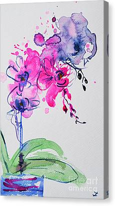 Orchid Improvisation Canvas Print by Zaira Dzhaubaeva