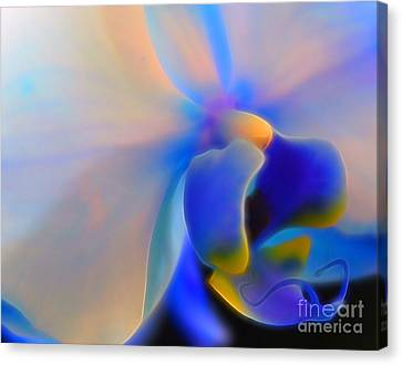 Floral Digital Art Canvas Print - Orchid Of Radiance by Krissy Katsimbras