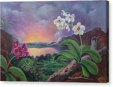 Orchids And Mystery Canvas Print
