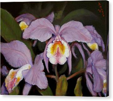 Canvas Print featuring the painting Orchids by Donelli  DiMaria