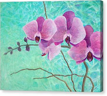 Orchids In Pink Canvas Print by Arlissa Vaughn