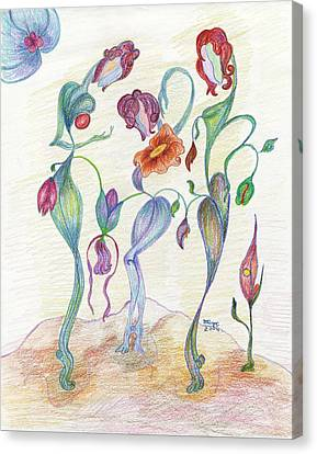 Orchids Canvas Print by Mila Ryk