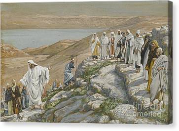 Ordaining Of The Twelve Apostles Canvas Print by Tissot
