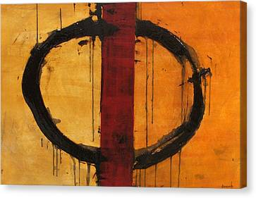 Order In Chaos Yellow Canvas Print by Ellen Beauregard