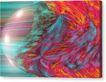 Music Inspired Art Canvas Print - Order Of The Universe by Linda Sannuti