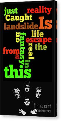 Musicos Canvas Print - Order The Lyrics Game. Queen. Bohemian Rapsody. Game For Music Lovers And Fans by Pablo Franchi