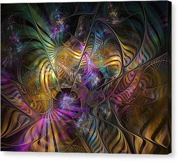 Canvas Print featuring the digital art Ordinary Instances by NirvanaBlues