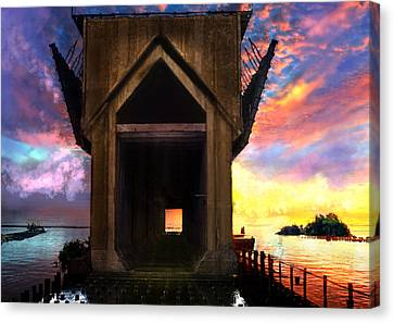 Marquette Canvas Print - Ore Dock by Kendall Tabor