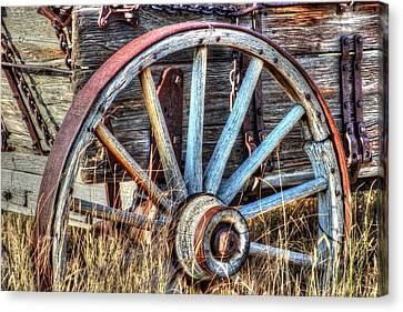 Wagon Wheels Canvas Print - Ore Road by Vikki Correll
