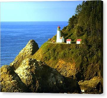 Oregan Lighthouse Canvas Print by Marty Koch