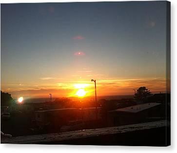 Oregon Blazing Sunset Canvas Print