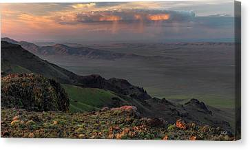 Canvas Print featuring the photograph Oregon Canyon Mountain Views by Leland D Howard