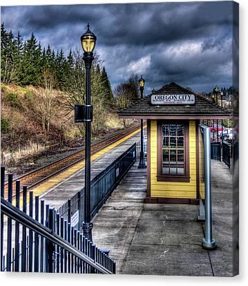 Oregon City Train Depot Canvas Print by Thom Zehrfeld
