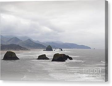 Oregon Coast Mountain Clouds Landscape Canvas Print by Andrea Hazel Ihlefeld