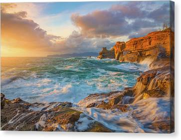 Canvas Print featuring the photograph Oregon Coast Wonder by Darren White
