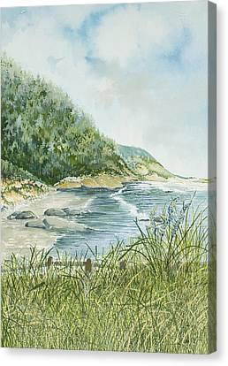 Oregon Coastline Canvas Print by Virginia McLaren