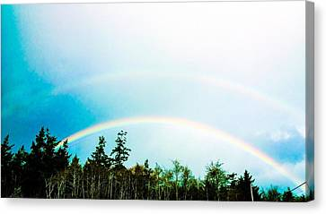 Oregon Double Rainbow Canvas Print