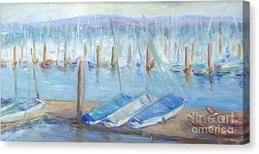 Oregon Harbor Canvas Print by Barbara Anna Knauf