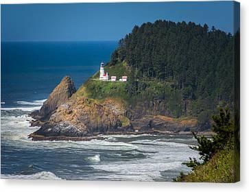 Oregon Heceta Head Lighthouse  Canvas Print by Michael J Bauer