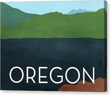 Oregon Landscape- Art By Linda Woods Canvas Print by Linda Woods
