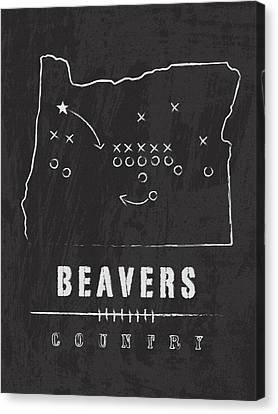 Oregon State Beavers Country Canvas Print