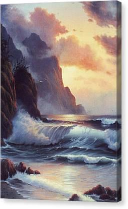 Oregon Sunset Canvas Print by Lynne Parker
