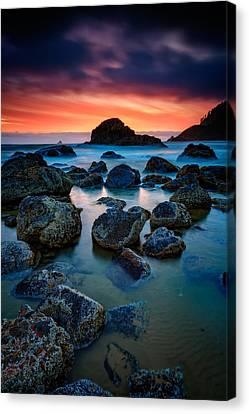 Oregon Sunset Canvas Print by Rick Berk