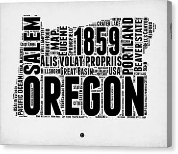 Oregon Word Cloud 1 Canvas Print
