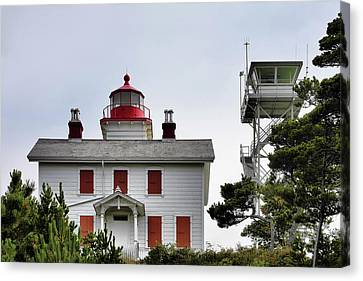 Old West Canvas Print - Oregon's Seacoast Lighthouses - Yaquina Bay Lighthouse - Old And New by Christine Till