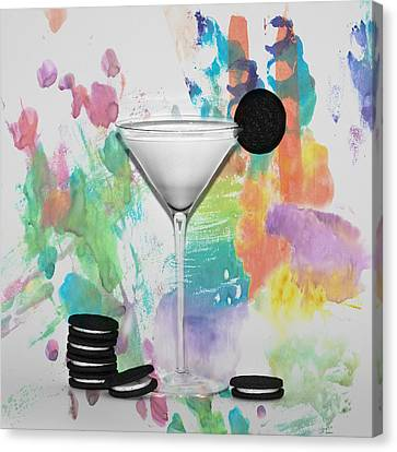 Oreo Happy Hour Watercolor Bg Canvas Print by Bill Cannon