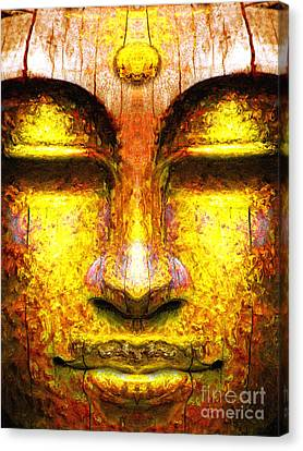 Organic Buddha Canvas Print by Khalil Houri