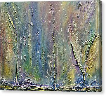 Canvas Print featuring the painting Organic Fantasy Forest by Dolores  Deal