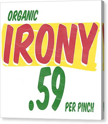 Vintage Sign Canvas Print - Organic Irony by Edward Fielding