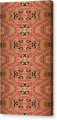 Organic Paisley Canvas Print by Modern Metro Patterns and Textiles