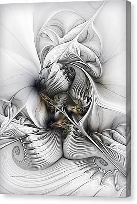 Canvas Print featuring the digital art Organic Spiral Tower Construction by Karin Kuhlmann