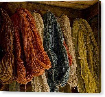 Organic Yarn And Natural Dyes Canvas Print by Wilma  Birdwell