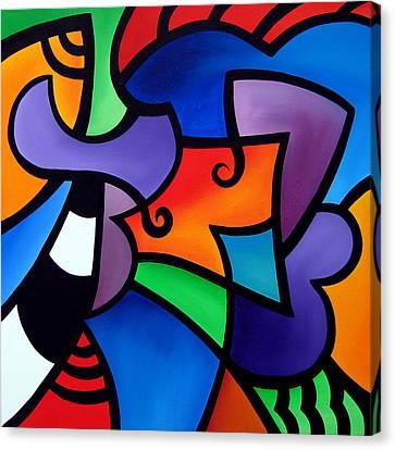 Organized - Abstract Pop Art By Fidostudio Canvas Print by Tom Fedro - Fidostudio