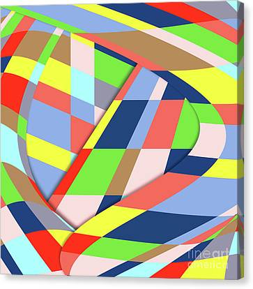 Canvas Print featuring the digital art Organized Cubic Chaos by Bruce Stanfield