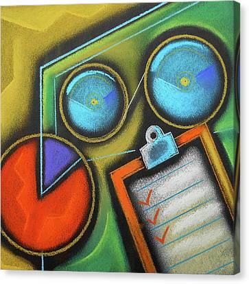 Organizing Canvas Print by Leon Zernitsky