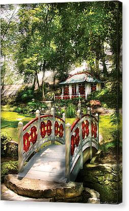 Orient - Bridge - The Bridge To The Temple  Canvas Print by Mike Savad