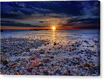 Orient Point Sunrise Canvas Print by Rick Berk