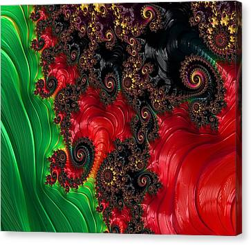 Oriental Abstract Canvas Print by Marianna Mills