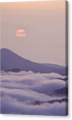 North Carolina Canvas Print - Oriental Blue Ridge Sunrise by Rob Travis