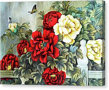 Canvas Print featuring the photograph Oriental Flowers by Munir Alawi