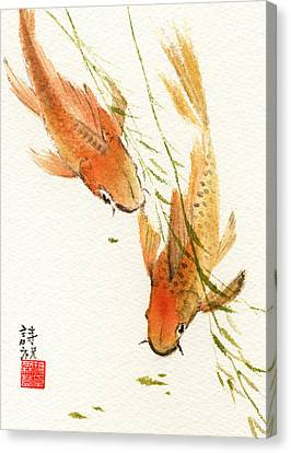 Oriental Koi Canvas Print by Sandy Linden